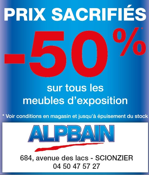50% prix sacrifiés